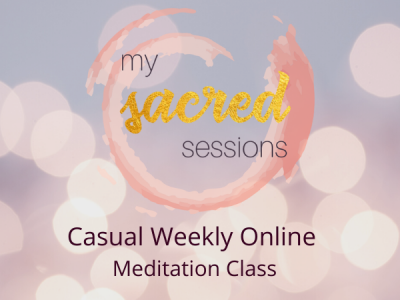 casual weekly online meditation calss